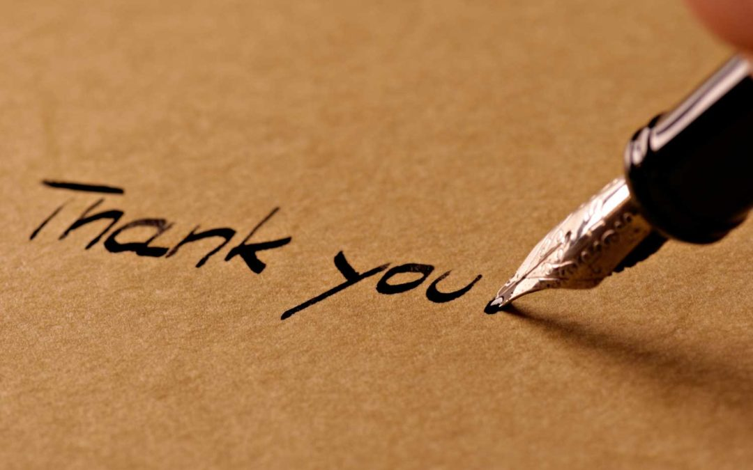 Writing A Thank You Note and Why You Should